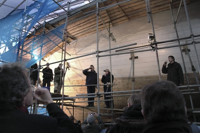 STOCKHOLMS BRIGGEN sista plankan på plats 2005.