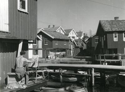 Nära hamnen i Smögen.
