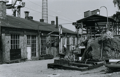 Oskarshamns varv. Plåtverkstad 14. Bilden tagen från sjösidan.