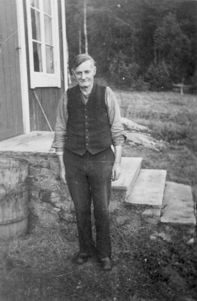 Fiskaren David Jansson, född 1875, död 1954. Uppland, Stockholms län, Frötuna skeppslag, Länna socken
