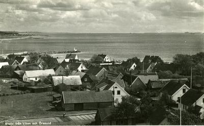 Motiv från Viken och Öresund. Vykort dat. 6/7 1948.