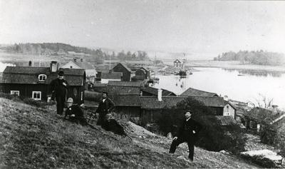 Strömsholms hamnar omkr. 1865.