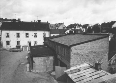Enköping, kvarteret Bryggaren nr 2, Kungsgatan 7, gårdssidan, A.-B. Enköpings Ångbryggeri, mot nordväst