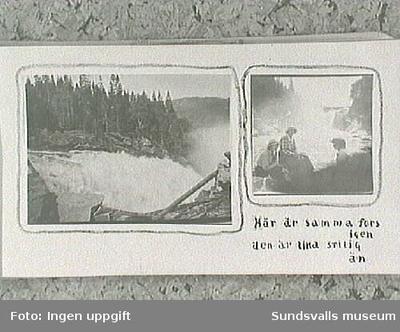 Amatörfotografier från resa till Trondheim sommaren 1915. Maja Braathen, Gunnar Johansson, Tage, Atti, Lisa.