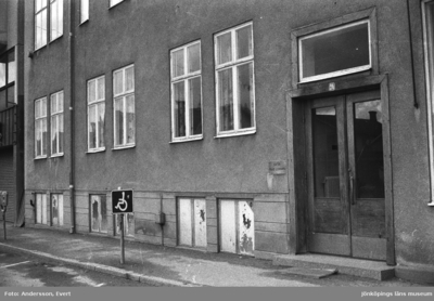 Doktor Folke Ljungars mottagning vid Kungsgatan - Drottninggatan i Huskvarna.