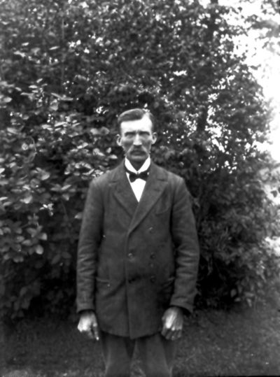 Plåtslagare Otto Johansson, Friborg, 1883-1962.