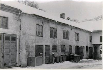Kv. Guldsmeden. Storgatan 18, Per Lars tomt. Gårdsinteriör. Revs 1957.