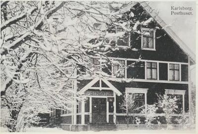 Karlsborg i början av 1900-talet. Posthuset.