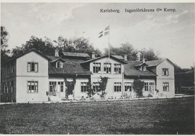 Karlsborg i början av 1900-talet. Ingeniörskårens6:te kompani.