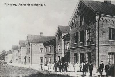 Karlsborg i början av 1900-talet. Ammunitionsfabriken.