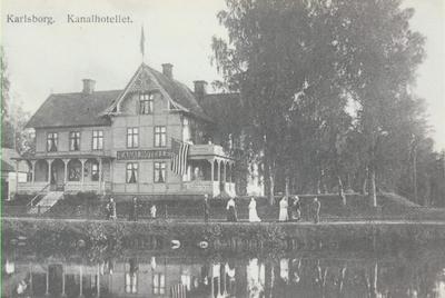 Karlsborg i början av 1900-talet.Kanalhotellet.