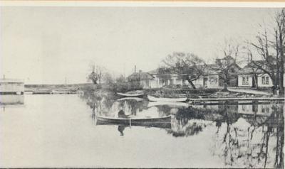 Karlsborg i början av 1900-talet.Från Vätterns stränder.