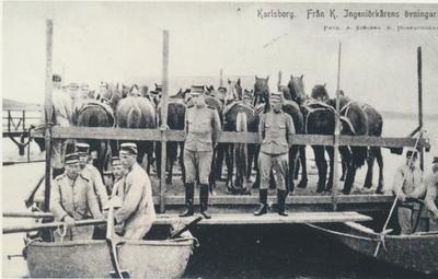 Karlsborg i början av 1900-talet.Från Kungliga Ingeniörskårens övningar.