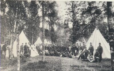 Karlsborg i början av 1900-talet.Från Ingeniörkårens övningar.