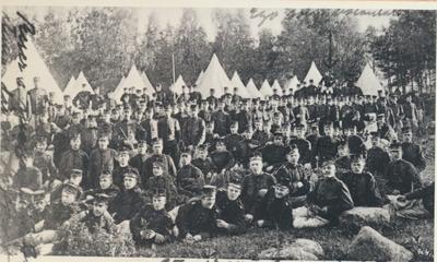 Karlsborg i början av 1900-talet.Från Artilleriets övningar.