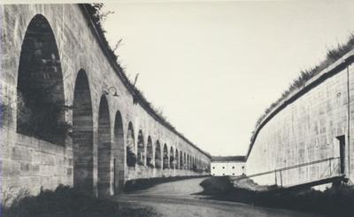 Karlsborg i början av 1900-talet. Palissaden.