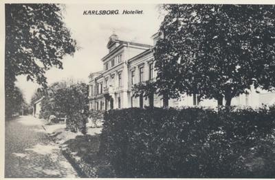 Karlsborg i början av 1900-talet. Hotellet.