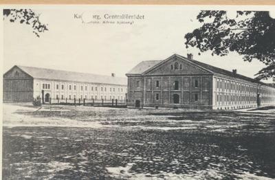 Karlsborg i början av 1900-talet. Centralförrådet.