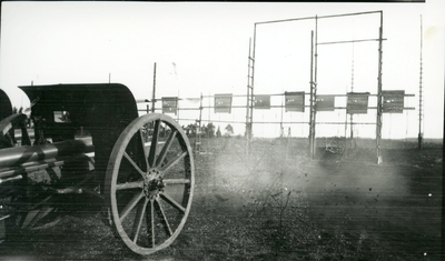 Kanon m/1902. 7,5 cm. Artilleriskjutskolan, A 6.