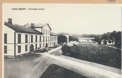 Karlsborg i början av 1900-talet. Volontärskolan.