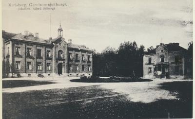 Karlsborg i början av 1900-talet. Garnisonsjukhuset.