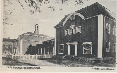 Karlsborg i början av 1900-talet. Soldathemmet.