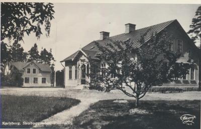 Karlsborg i början av 1900-talet. Skolbyggnaden.