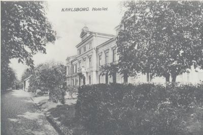 Karlsborg i början av 1900-talet.Hotellet.