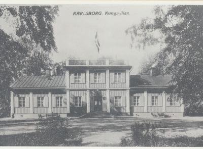 Karlsborg i början av 1900-talet. Kungsvillan.