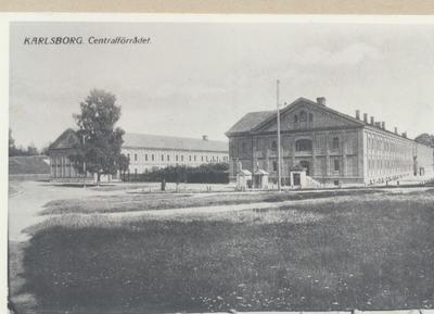 Karlsborg i början av 1900-talet.Centralförrådet.