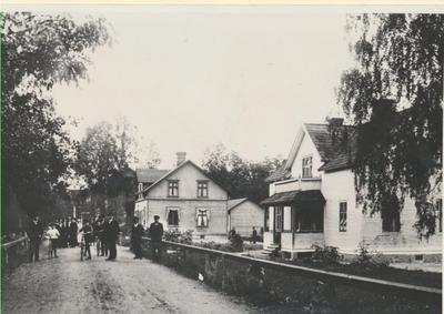 Karlsborg i början av 1900-talet. Vy från Forsvik.