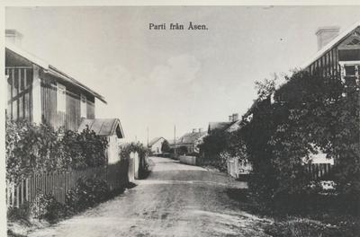 Karlsborg i början av 1900-talet. Parti från Åsen.