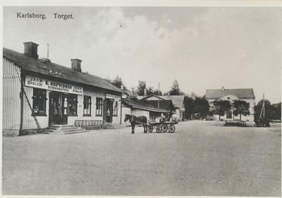 Karlsborg i början av 1900-talet. Torget.