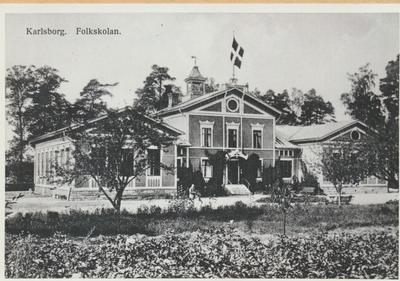 Karlsborg i början av 1900-talet. Folkskolan.