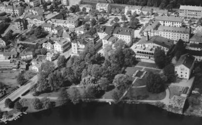 Flygfoto över Tranås i Jönköpings län. Nr R 654.