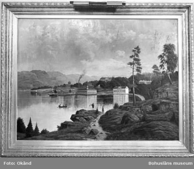 Oljemålning över Gustafsberg. E. Fagerström 1881.