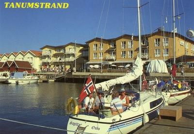 Grebbestad: Den populära konferens och turistanläggningen Tanum strand.