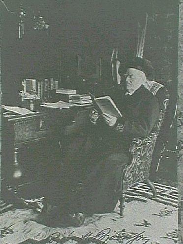 Björstjerne Björnsson, vykort adresserat till Grosserer Gustav og Anna Braathen, Hovid, Sundsvall fra Tante Else (Annas moster) stämplat Kristiana 29 X11 01 (tack för julklapp).