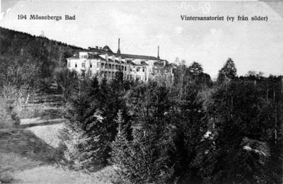 Vintersanatoriet, Mössebergs bad. (vy från söder).