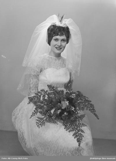 Bröllopsfoto på Fru Håkansson år 1961.