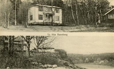 Enligt Bengt Lundins noteringar: Vy från Raneberg. Saxenborg. Raneholmen.