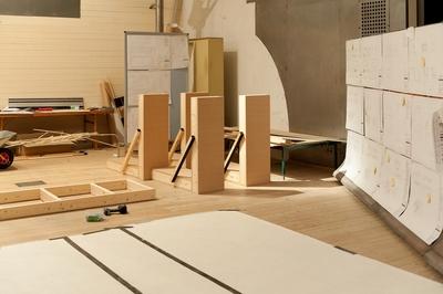 Byggarbeten pågår till utställningen: YTSPÄNNING, kallt krig i Östersjön 1979-89.