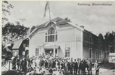 Karlsborg i början av 1900-talet. Missionskyrkan.