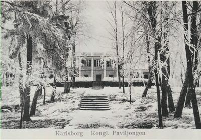 Karlsborg i början av 1900-talet. Kungliga paviljongen.