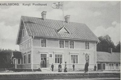 Karlsborg i början av 1900-talet. Kungliga Posthuset.