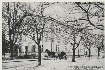Karlsborg i början av 1900-talet. Kommendanthuset.