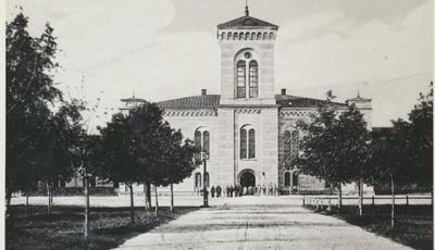 Karlsborg i början av 1900-talet. Garnisonskyrkan.