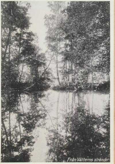 Karlsborg i början av 1900-talet.Från Vätterns stränder. (Svenska turistföreningens fototävling.)