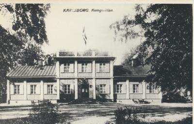 Karlsborg i början av 1900-talet.Kungsvillan.