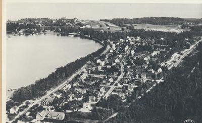 Karlsborg i början av 1900-talet.Flygfoto av Rödesund.